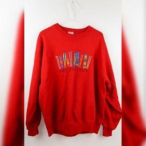 Vintage crazy shirt Hawaii large red sweatshirt